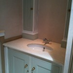 Ensuite vanity unit installed