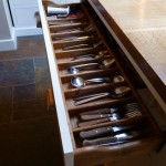 Kitchen (1) island cutlery drawer detail